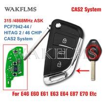 Sistema de Substituição da Chave Do Carro Remoto Fob Para BMW 1 Cas2 3 5 6 série X5 E87 E46 E60 E61 E63 E64 E70