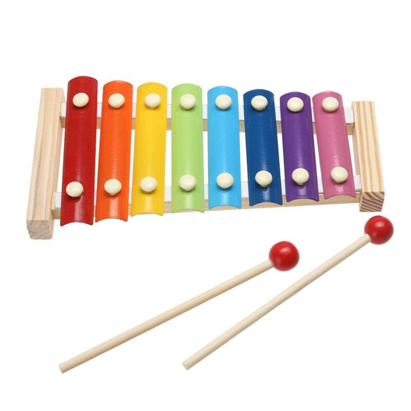 2020 nuevo Imitat instrumento de música de juguete marco de madera xilófono niños juguetes para niños juguetes educativos para bebés regalos con 2 mazos 2019 SpongeBobinglys música piña casa Patricio Star edificio educación en bloques figuras juguetes niños regalos de cumpleaños