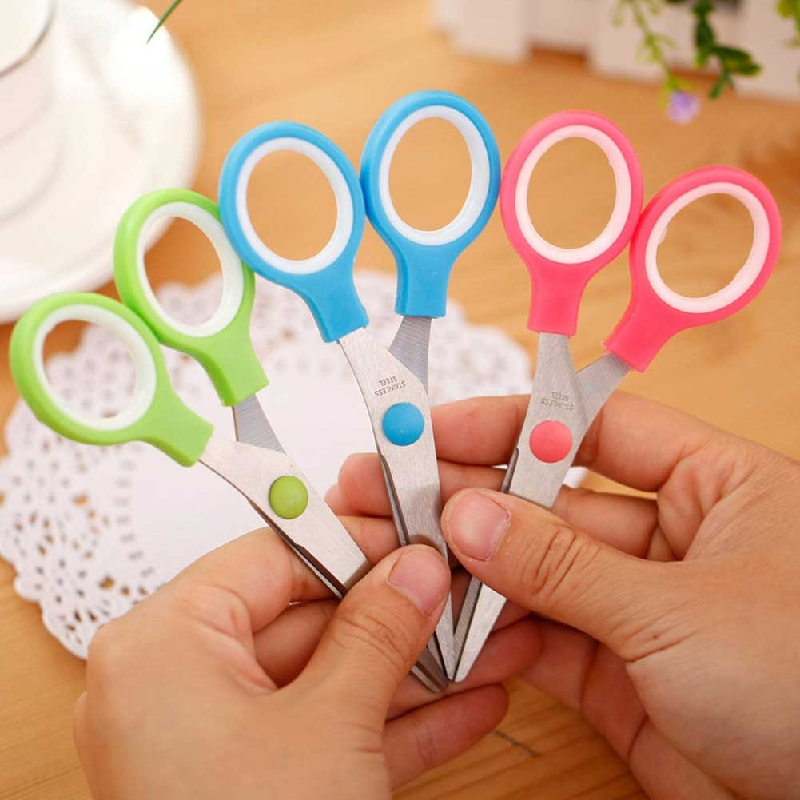 Color Random Korean Stationery Children's Gifts Office Supplies Student Scissors Office Scissors Supplies Stationery Supplies