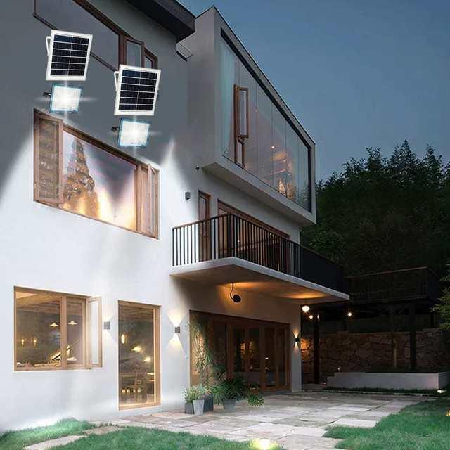 Multi-function Solar Flood Light Outdoor Waterproof Wall Lamp Led Solar Lamps Garden Lighting 150/200/300/400W W/ Solar panel RC 5