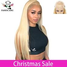 Панда 4x4 светлые 613 кружево парики бразильских волос блондинка прямые волосы Кружева Закрытие парик 150% плотность 613 Блондин человеческие волосы парики шнурка человеческих волос