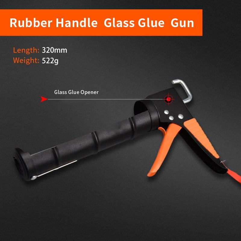 Profession Manual Caulking Gun Glass Glue Gun Flexible Soft Silicone Gun For Home Improvement High Quality Hardware Tools