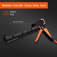 Profession Manual Caulking Gun Glass Glue Gun Flexible Soft Silicone Gun For Home Improvement High Quality Hardware Tools|אקדח לחומר איטום|כלים -