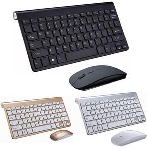 Image 1 - คีย์บอร์ดไร้สายแบบพกพา Klavye สำหรับ Mac โน้ตบุ๊คกล่องทีวี 2.4G เมาส์คีย์บอร์ดชุด Office อุปกรณ์สำหรับ IOS Android win 7 10
