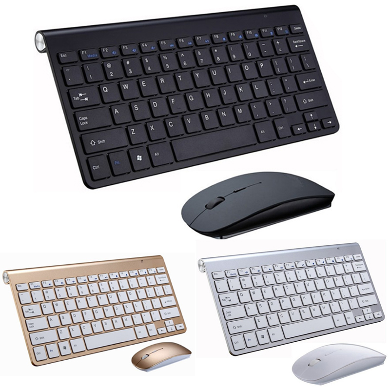 Portable Wireless Keyboard Klavye For Mac Notebook TV Box 2.4G Mini Keyboard Mouse Set Office Supplies For IOS Android Win 7 10