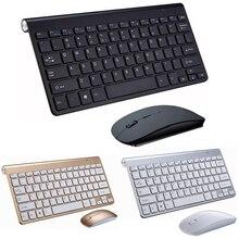 Przenośna klawiatura bezprzewodowa Klavye dla Mac Notebook tv, pudełko 2.4G Mini zestaw mysz i klawiatura materiały biurowe dla IOS Android Win 7 10