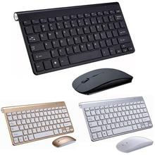 Tragbare Drahtlose Tastatur Klavye für Mac Notebook TV box 2,4G Mini Tastatur Maus Set Büro Liefert für IOS Android win 7 10