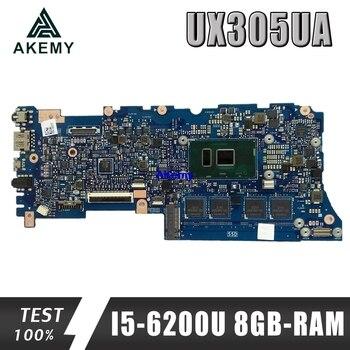 Akemy UX305UA Laptop Motherboard For ASUS UX305UA UX305U U305U mainboard 100% test OK I5-6200U 8GB-RAM