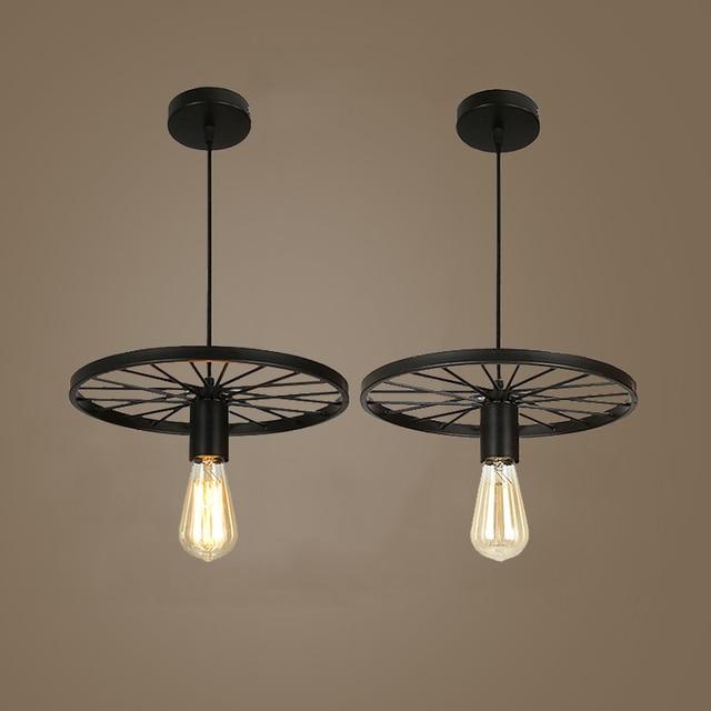 Retro Loft Industrieel Fietswiel Plafondlamp 1