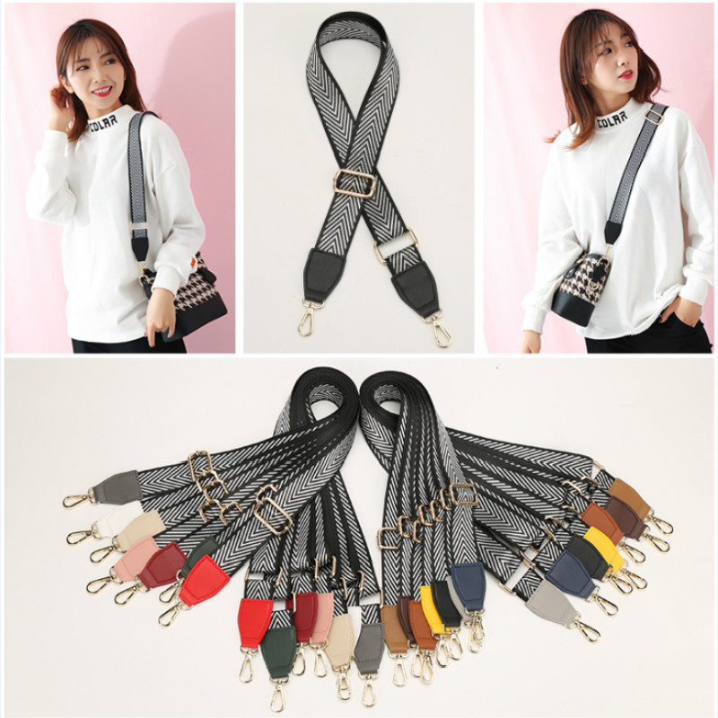 3.8cm Wide Bag Strap Nylon Cotton Fabric Shoulder Strap Belt Arrow Stripe Bag Accessories Adjustable 140~88