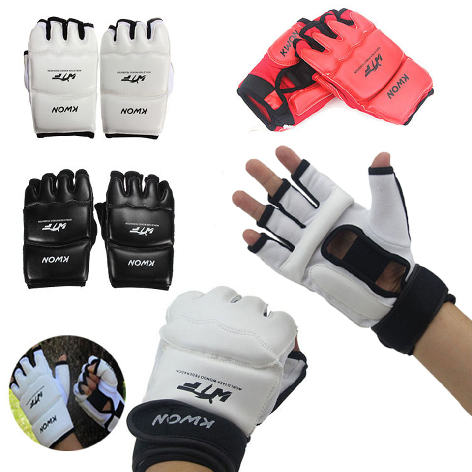 Nouveau demi doigt combat gants de boxe mitaines Sanda karaté sac de sable TKD protecteur pour Boxeo MMA Muay Thai Kick boxe entraînement
