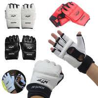 Nuevo Medio dedo guantes de Boxeo para lucha guantes Sanda Karate arena TKD Protector para Boxeo Muay Thai MMA entrenamiento de kick boxing