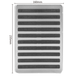 Image 3 - LEEPEE Auto Interior Floor Mat Patch Driver Car Side Floor Carpet Mats Stainless Steel Plate Carpet Foot Heel Pedal Replacements
