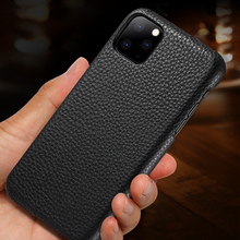 Retro Genuine Leather Case for Apple iPhone 11 Pro Max Xs X Xr 8 7 Plus Business Super Ultra Thin Shell Back Protective Cover