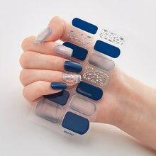 14 подсказок/лист дизайн красочные наклейки для ногтей s самоклеющиеся