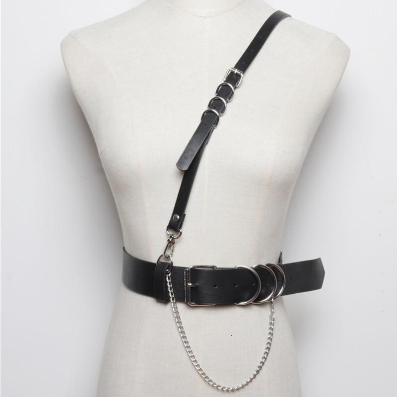 LANMREM 2019 Strap Belt Integrated Pu Leather Girdle Female Punk Wind Wild T-shirt Accessories Wide Belt Female PC213