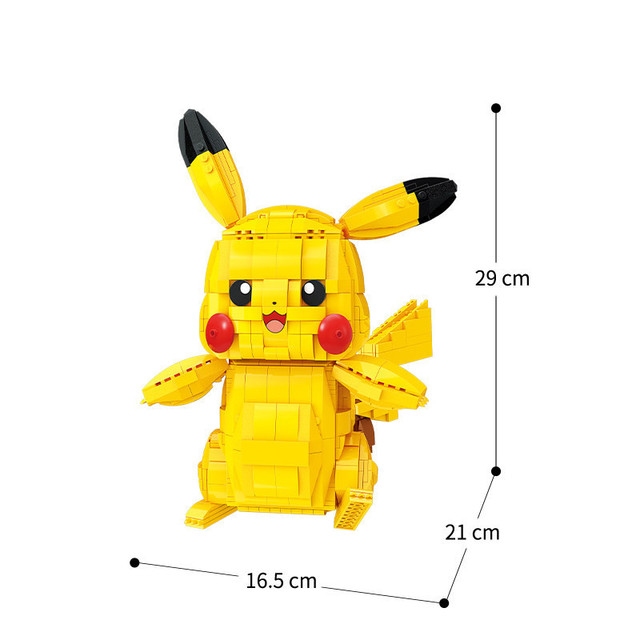 Creator Cartoon Anime Pokemon Pikachu Model Building Blocks Bricks Sets Classic Movie Dolls Model Kids Toys For Children Gift 3