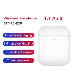 99% 1:1 Air 2 Wireless Earphones GPS Rename Smart Light Sensor Bluetooth 5.0 Earbuds Pops-up Wireless Charger Headsets