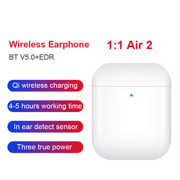 99% 1:1 Air 2 Wireless Earphones GPS Rename Smart Light Sensor Bluetooth 5.0 Earbuds Pops-up Wireless Charger Headsets