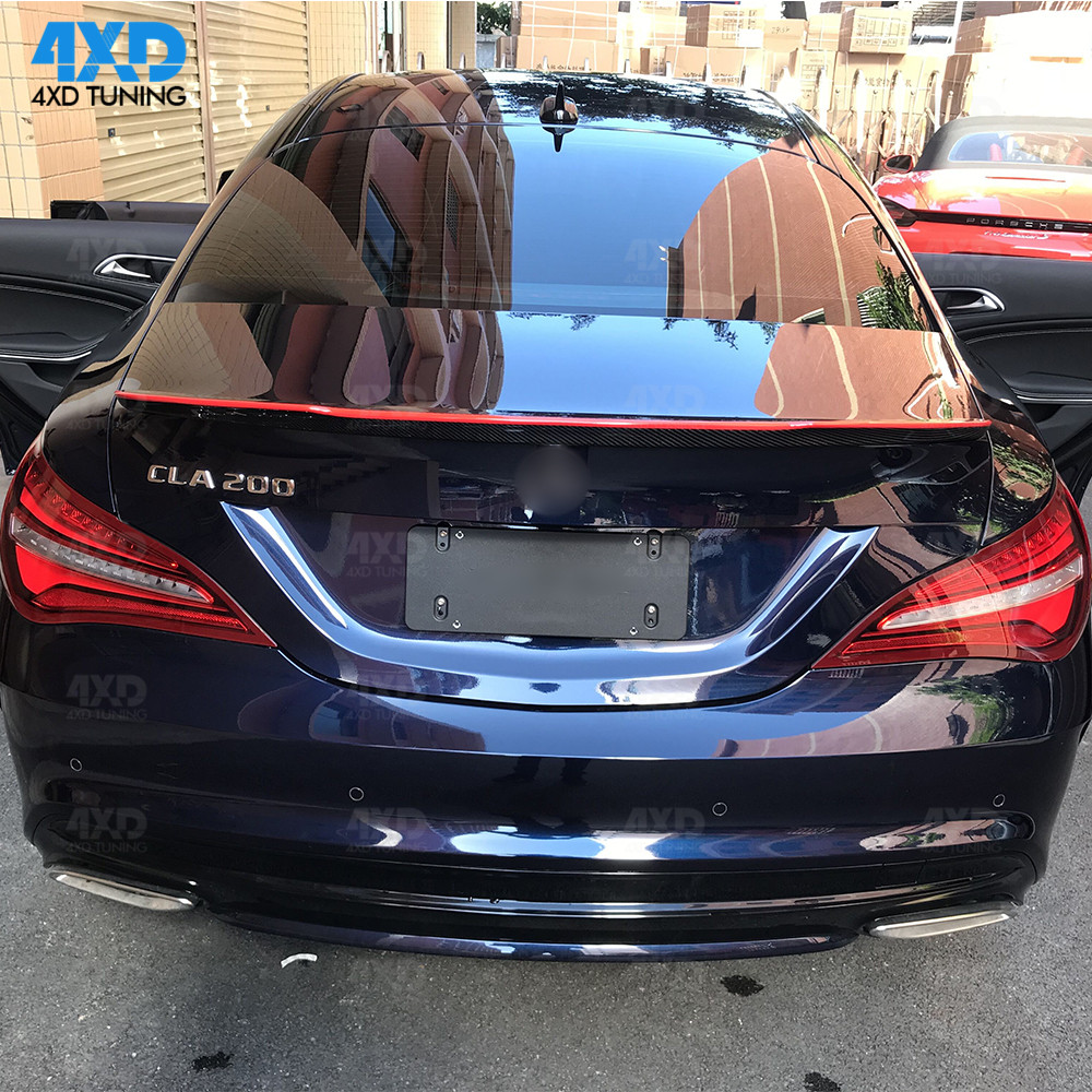 W117 Carbon Fiber Trunk Spoiler For Mercedes CLA AMG C117 Rear - Auto Replacement Parts - Photo 2