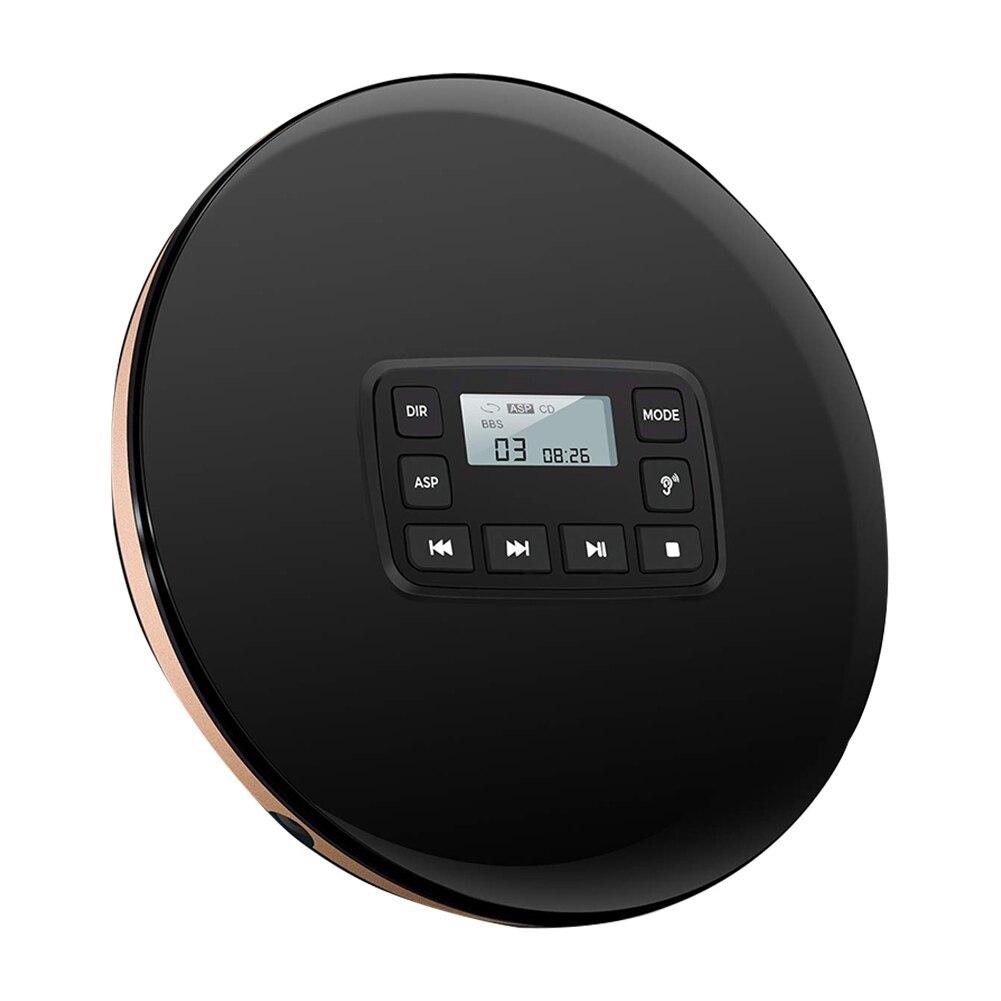 Prise casque HIFI antichoc acoustique Portable lecteur CD Protection disque Compact musique électrique ronde avec sauter électronique