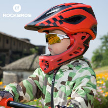 ROCKBROS Cycling Bike Helmet Full Covered Child Helmet EPS Parallel Car Children Helmet 2 In 1 Sport Safety Riding Helmets