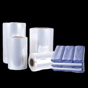 Termokurczliwe folie termokurczliwe PVC przeźroczyste tworzywo sztuczne rolka cylindryczny worek do pakowania codzienne artykuły spożywcze pudełko na kosmetyki