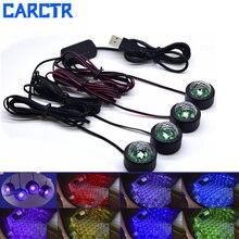 Carctr 4 шт салона светодиодный Атмосфера Огни rgb напольное