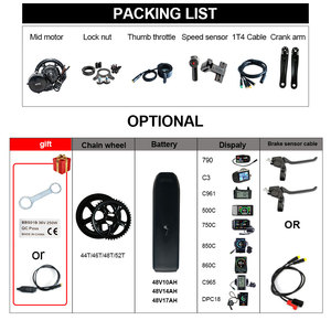 Image 4 - NEW Version 48V500W Bafang Central Motor Mid Drive Powerful Potor Kit Electric Bicycles Ebike Motor Conversion Kit Battery Pack