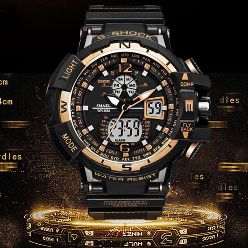 2019 New Casual Sport Watch Men G Style Waterproof Sports Military Watches S Shock Men's Luxury Analog Digital Quartz Wristwatch