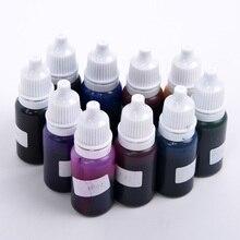 10 шт 10 г прозрачный желе цвета эпоксидной смолы клей для силикона форма из жидкого пигмента DIY для изготовления украшений вручную ремесленные бутылки