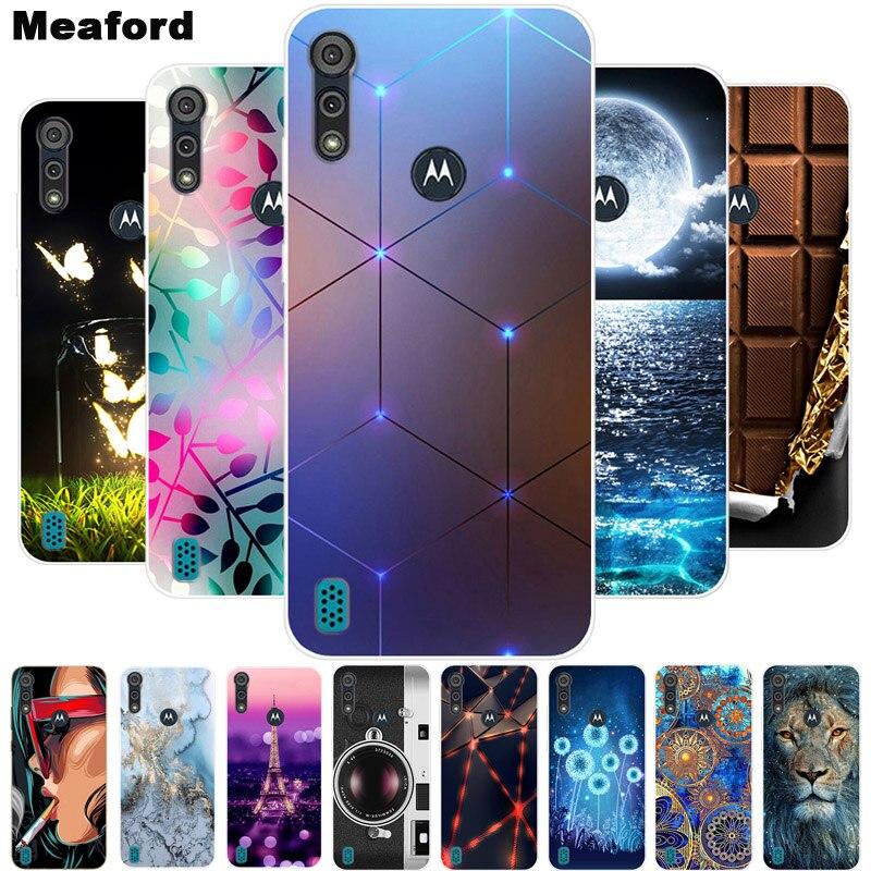 For Motorola Moto E6S 2020 Case Shockproof Soft silicone TPU Back Cover For Moto E6S 2020 E6i Phone Cases E 6S Case Cute Cartoon