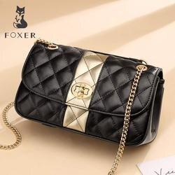 FOXER бренд 2019 кожа Офисная Женская оригинальная шикарная Женская сумочка с клапаном модная маленькая сумка через плечо женская элегантная к...