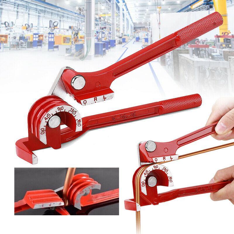 Tube bender Adeeing 3 in 1 Tubing Pipe Bender 1/4in 5/16in 3/8in Tube Aluminum Copper Steel Fuel Brake Lines
