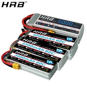 HRB 4S 14.8V Lipo Battery XT60 1800 2200mah 2600mah 3000mah 3300mah 4000mah 5000mah 6000mah 10000mah 12000mah 22000mah RC Parts(China)