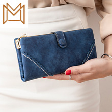 Printing Leather Matting Wallet Woman Long 2019 More Function Student Wallet Wallet