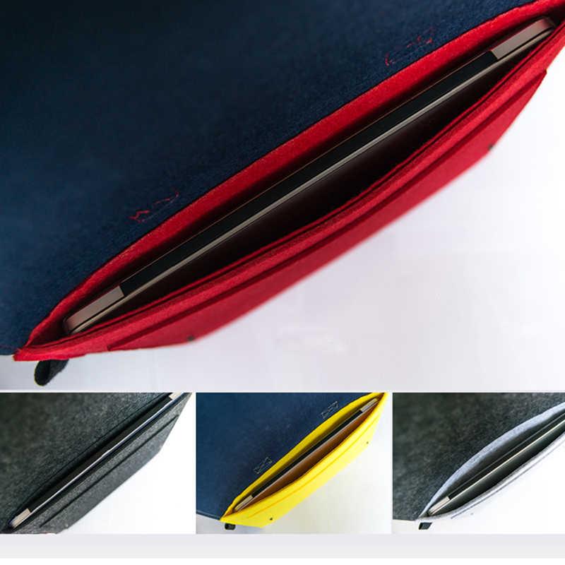 Funda de bolso de mano de fieltro de lana para ordenador portátil para Macbook Air Pro Retina 11 12 13 14 15 15,6 Lenovo funda para portátil Asus HP