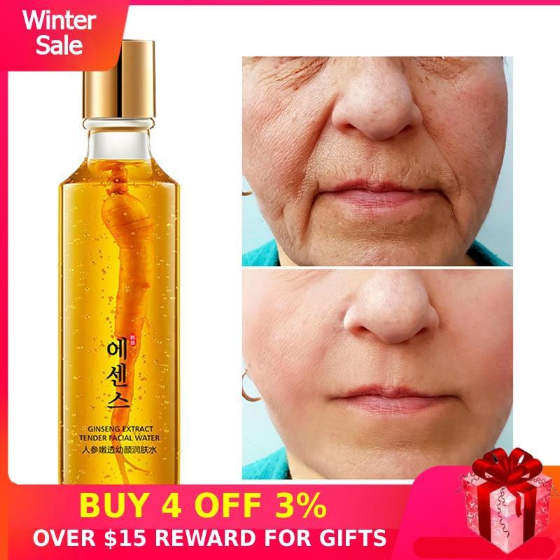 Face Tonic Ginseng Lotion Toner 150ML Moisturizing Whitening Anti-wrinkle Lifting Firming Brighten Skin Care Pore Minimizer P