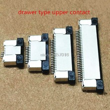 10Pcs FPC Connector socket FFC 0.5MM 40P Drawer upper Contact Type 4/6/8/10/12/14/16/18/20/22/24/30/32/34/40/50/60P(China)
