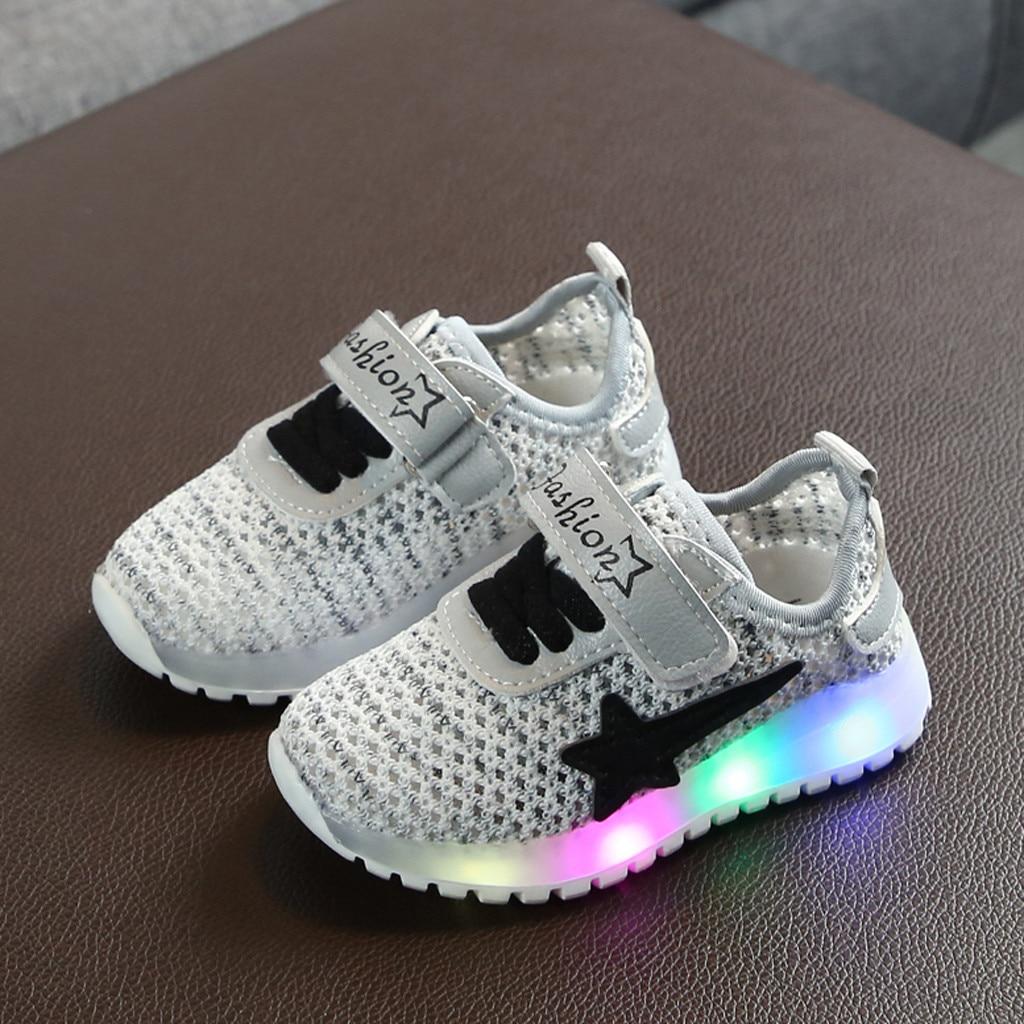 Kids Flash LED Light Up  Boys Girls Trainers Luminous Sneaker Infant Shoes 2019