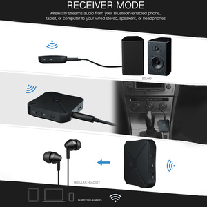 Image 4 - 2 in 1 kablosuz Bluetooth 4.2 alıcı verici ev TV MP3 PC kablosuz adaptör ses 3.5MM AUX Stereo hoparlör TV araba PC
