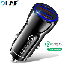 OLAF Mini USB 3.1A Quick Charge 3.0 Fast Charging Dual Car Charger For Iphone 8 X XS Huawei p20 lite Phone