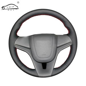 Image 1 - Artificial Leather car steering wheel braid for Chevrolet Cruze 2009 2014 Aveo 2011 2014/Custom made Steering Wheel cover