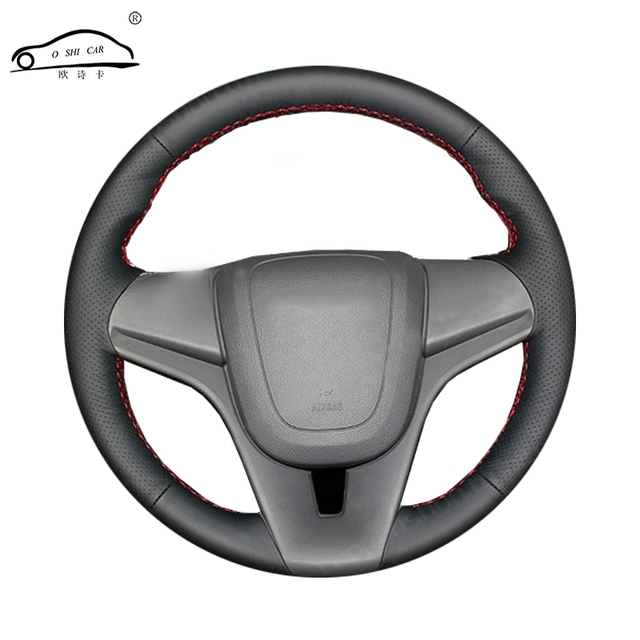 Artificial Leather car steering wheel braid for Chevrolet Cruze 2009 2014 Aveo 2011 2014/Custom made Steering Wheel cover