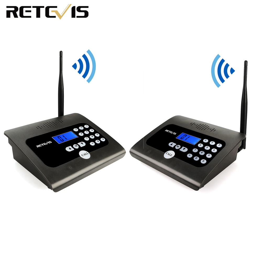 2PCS RETEVIS RT57 Duplex Indoor Wireless Calling Intercom System Business Calling Device Two-way Desktop Radio For Office/Home