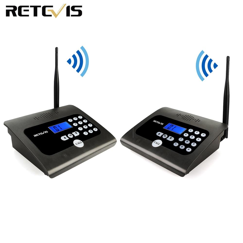 2PCS RETEVIS RT57 Duplex Indoor Wireless Calling Intercom System Business Calling Device Two-way Desktop Radio For Office/Home