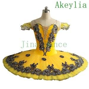 Image 4 - Samt Royal Blau Vogel Variation Professionelle Ballett Tutu Frauen Clsssical Tutu Pfannkuchen Kostüm Mädchen blau swanlake Kinder
