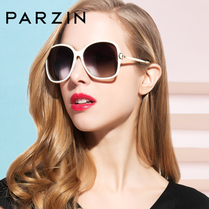 Image 4 - PARZIN 2019 Brand Fashion Big Frame Women Polarized Sunglasses High Quality Vintage Metal Temple Design Sun Glasses