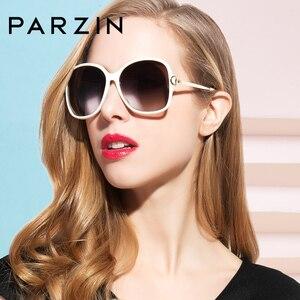 Image 4 - PARZIN 2019 marka moda büyük çerçeve kadın polarize güneş gözlüğü yüksek kaliteli Vintage Metal tapınak tasarım güneş gözlüğü