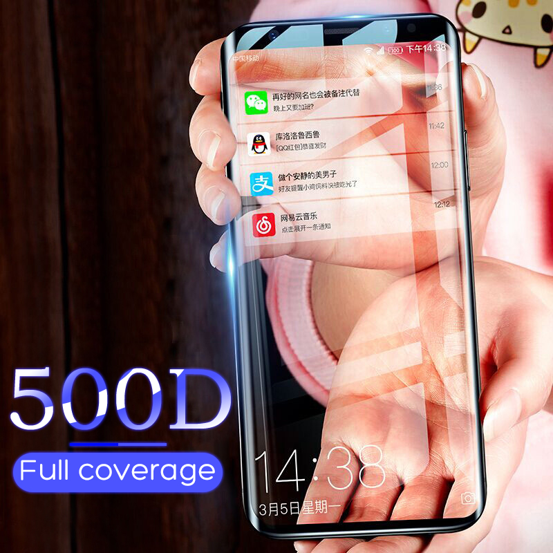 500D Full Curved Tempered Glass For Samsung Galaxy S9 S8 Plus Note 9 8 Screen Protector On Samsung S7 S6 Edge S9 Protective Film